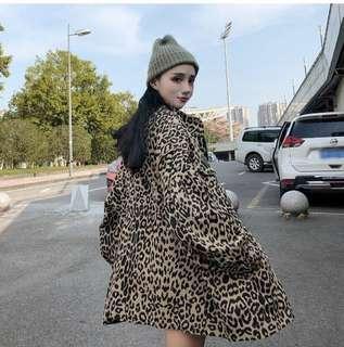 Leopard loose jacket women outerwear