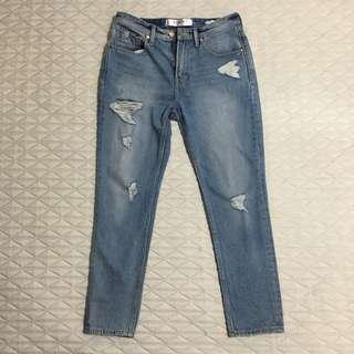 original guess los angles tapered crop jeans