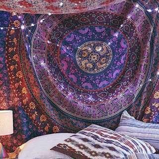 #6: Purple Medallion QUEEN SIZE Mandala Tapestry