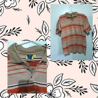Absolutee Orange Lined Polo
