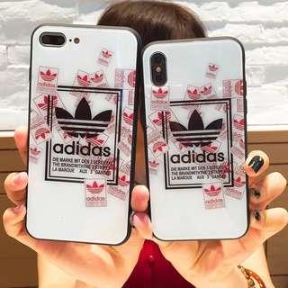 Adidas glass hard case for IPhone