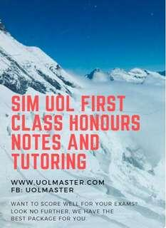 FIRST CLASS HONOURS NOTES