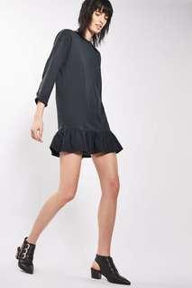 Topshop Ruffle Hem Tunic Dress