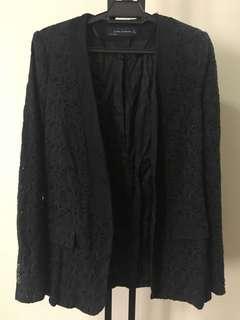 MNG Black Textured Jacket