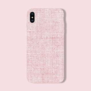 Soft Pink Fabric iPhone/Huawei/Oppo/Samsung Case