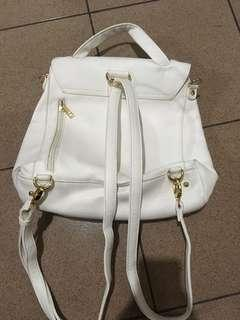 White Backpack (2 way)