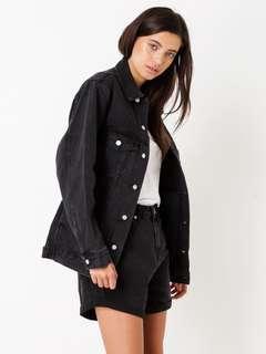 Assembly Label Ledger Washed Black Denim Jacket