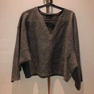 Zara W&B Collection Grey Top