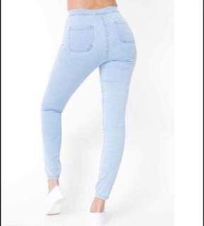 American Apparel Bleach Blue Easy Jeans