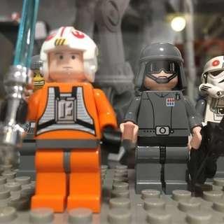 2 pcs Lego 10178 motorised at-at walker Minifigs Luke Skywalker and general veer