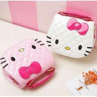 【團購】時尚kt貓可愛手提小女孩單肩包