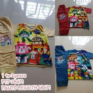 INSTOCK Robocar Poli Pyjamas set for kids n toddler's