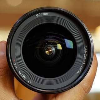 Canon 17-40mm f.4 L USM Kode UU Mulus
