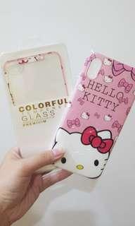 🚚 😍 Hello Kitty iPhone XS Max Screen Protector with Cover 😍
