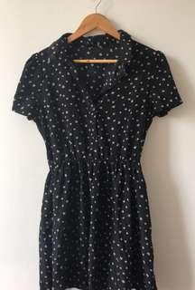 Black summer dress with bows size 12