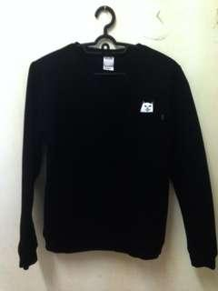 Black ripndip sweater