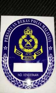 PBP MALAYSIA Windscreen Sticker