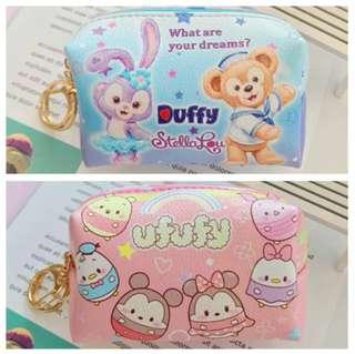 Cartoon Collections Cosmetic Pouch / Storage Pouch with Key Chain