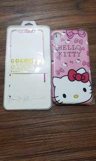 🚚 😻 Hello Kitty iPhone X/XS Screen Protector with Cover 😻