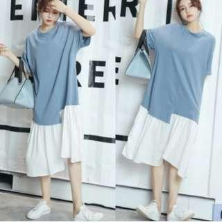 NEW Korean Fashion loose fit Dress -  (1 piece available)