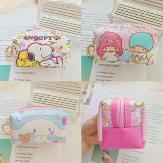 Cartoon Collection Snoopy Cinnamoroll Little Twin Stars Cosmetic Pouch / Coins Card Keys Storage Pouch