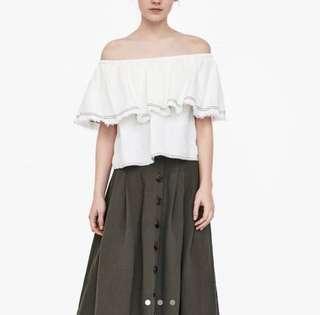 Zara Linen Top with Constructing Stitch