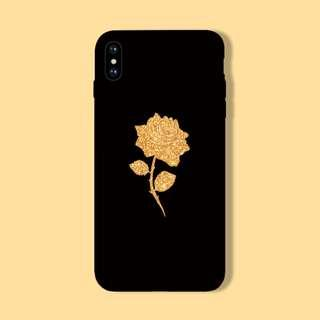 Sparkle Glitter Gold Rose iPhone/Huawei/Oppo/Samsung Case