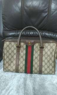 🚚 Gucci vintage 老花波士頓包