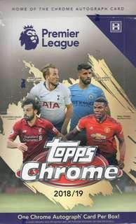 TOPPS EPL CHROME 2018/19