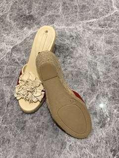 全新 Celine 紅色拖鞋