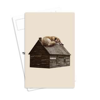 🚚 Vintage Postcards - Fox on the Box (Beautiful Illustration Art Design, Love, Surreal, Dog Cat Hand Soap, Set, Holder, Bts Poster Frame, Pin, Mug Harry Pokémon Sticker Stamp Envelope Journal Bookmark League Valentine Christmas Korean Japan Haiku Cap)