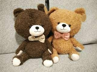 🚚 Pair of Teddy Bears (Chocolate Brown and Sand Brown)