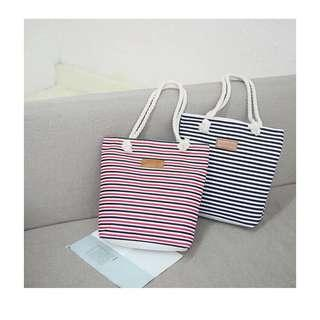 KOREAN STRIPE TOTE BAG