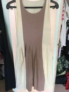 Cream and Taupe Dress