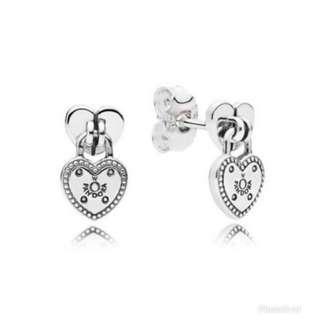 Pandora Love Locket Drop Earrings