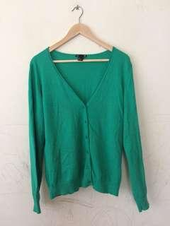 H&M Green Cardigan