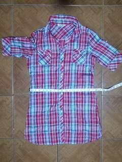 Checkered/ Plaid Polo Dress