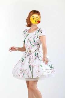 3D Floral Print Dress #JAN55