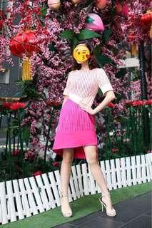 Two Tone Pink Dress #JAN55