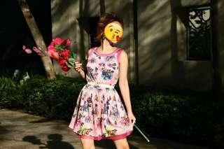 Shining Pink Floral Dress #JAN55