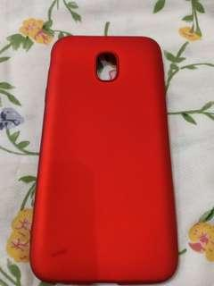 Samsung galaxy J7 pro red soft case