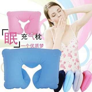 旅行必備充氣枕 午睡枕 U型枕 護頸枕頭