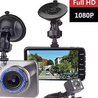 Premium Crystal Clear Car Front & Rear Reverse Camera With Parking Mode - Ready Stock