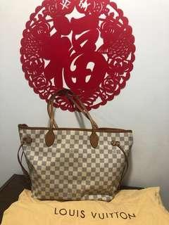 LV Neverfull MM (white)