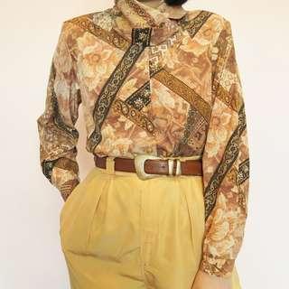 Vintage high neck blouse