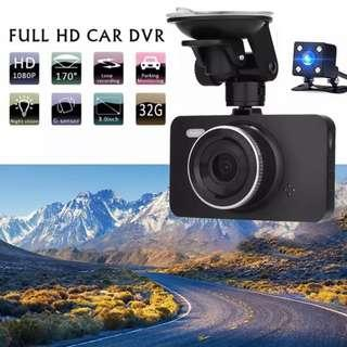 New Front and Rear Reverse Car Dash Camera - Complete Set