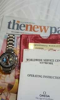 1996 Omega Triple Date ref no 3520.53.00 with box & papers
