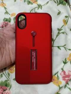 iPhone X red soft case