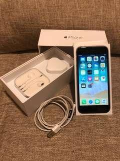 二手 iPhone 6 64GB 銀色 已換電勿議價 跟手機套