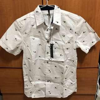 Graphite Graphic Button Down Short Sleeved Shirt